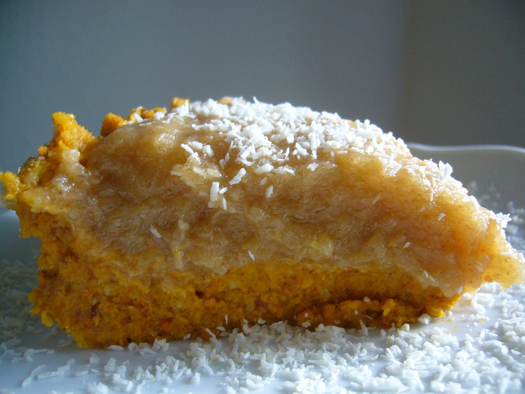 Köstlicher Apfel- Kürbiskuchen ohne backen