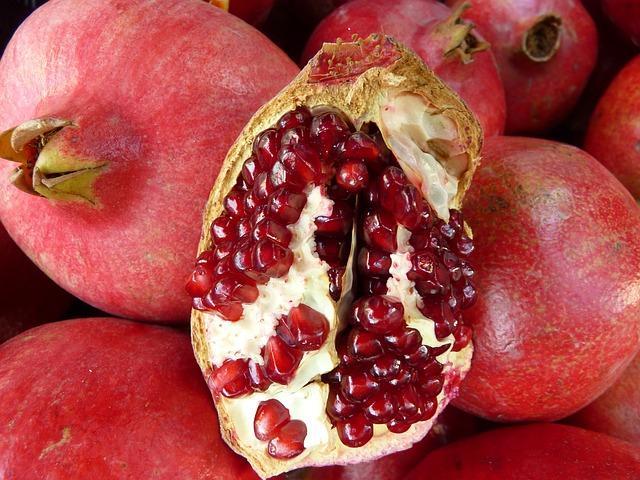 rohköstliches Granatapfel- Apfeldessert