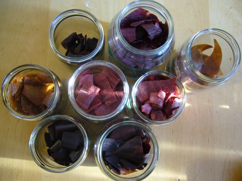 Fruchtleder in Gläser aufbewahren