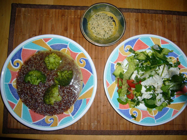 vegane Abendmahlzeit