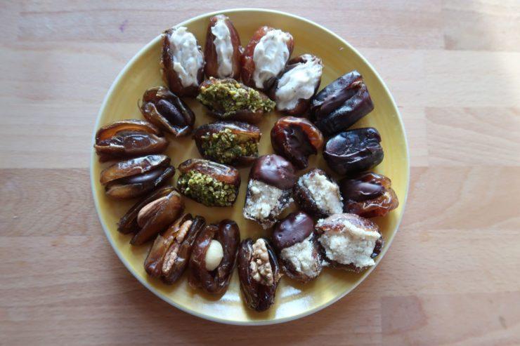 Fantastische vegane Rezepte für gefüllte Datteln